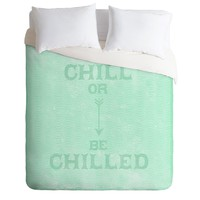 Nick Nelson Chill Or Be Chilled Duvet Cover