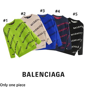 Balenciaga hot seller of stylish casual printed couples' loose-fitting sweaters