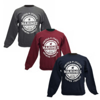 """United States Marines"" Unisex Crewneck Sweatshirt 