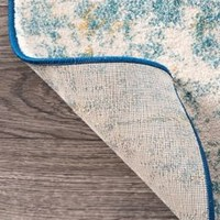 "Nuloom Katharina Rug, Blue, 2'8""x8' - Contemporary - Area Rugs - by nuLOOM"