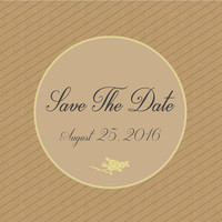 Save The Date - Rose and stripes