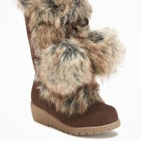 Faux-Fur Pom-Pom Boots for Toddler | Old Navy