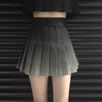 New Harajuku High Waist Vintage Plaid Short Skirts Girls Mini Pleated Skirt Preppy Style Gradient Skirts