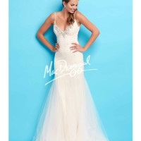 Ivory Open Back Mermaid Gown