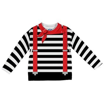 Halloween French Mime Costume All Over Infant Long Sleeve T Shirt