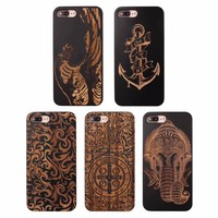 Case for iPhone 8 8 Plus 6 6s 6S Plus Natural Retro Real Wood + TPU Vintage Wooden Cases for iPhone 7 7 plus Hard Back Cover