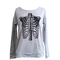 Anatomical Skeleton Long Sleeve Scoop Neck - Ladies Sizes S, M, L, XL