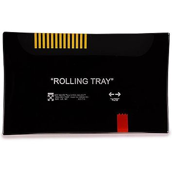 "Black ""Rolling Tray"" Glass Tray"