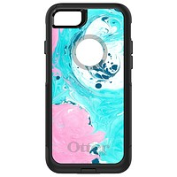 DistinctInk™ OtterBox Commuter Series Case for Apple iPhone or Samsung Galaxy - Blue Pink White Marble
