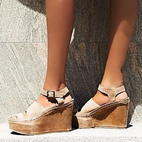 FP Collection Womens Monte Carlo Platform Wedge
