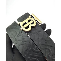 Burberry fashion sells embossed lettering buckle belts for casual men and women #1