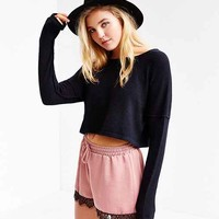 ANAMA Cropped Sweater- Black