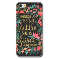 """Though She Be But Little She is Fierce"""" Shakespeare Colorful Floral Flowers Painted Rigid Plastic Hard Phone Protector Cover Case Shell for iPhone 6 Plus 6s Plus"""