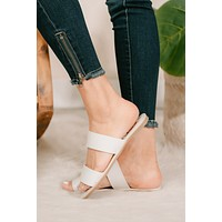 She's Timeless Double Strap Sandals (White)