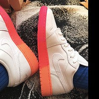 NIKE AJ AIR Jordan1 sneakers Basketball shoes Low tops pink orange soles