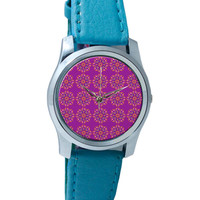 Garland Of Geometrical Patterns(Purple) Wrist Watch