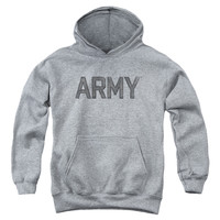 ARMY/STAR-YOUTH PULL-OVER HOODIE - HEATHER -