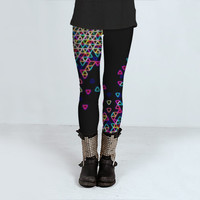 Black Neon Leggings - Funfetti Light Bright - Black Leggings