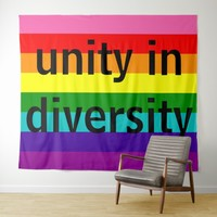 Rainbow Gay Pride LGBT Original 8 Stripes Colorful Tapestry