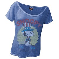 Peanuts - Snoopy For President Juniors T-Shirt