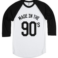 Made In The 90's Shirt Front Print (ide022129)-White/Black T-Shirt