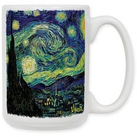 "Art Plates ""Van Gogh Starry Night"" Ceramic Coffee Mug, 15 oz"