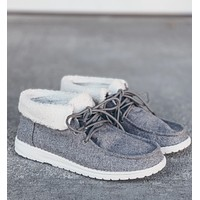 Very g gypsy jazz grey mikey sherpa cuffed sneaker