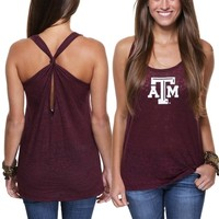 Texas A&M Aggies Ladies Oversized Tank - Maroon