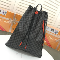 LV Louis Vuitton WOMEN'S Damier Cobalt Race CANVAS BACKPACK BAG