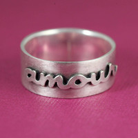 Amour Ring in Silver by ANORIGINALJEWELRY on Etsy