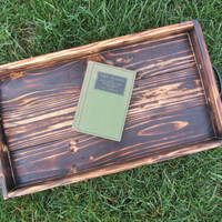 Wood Serving Tray Made From Reclaimed Pallet Wood Ottoman Tray