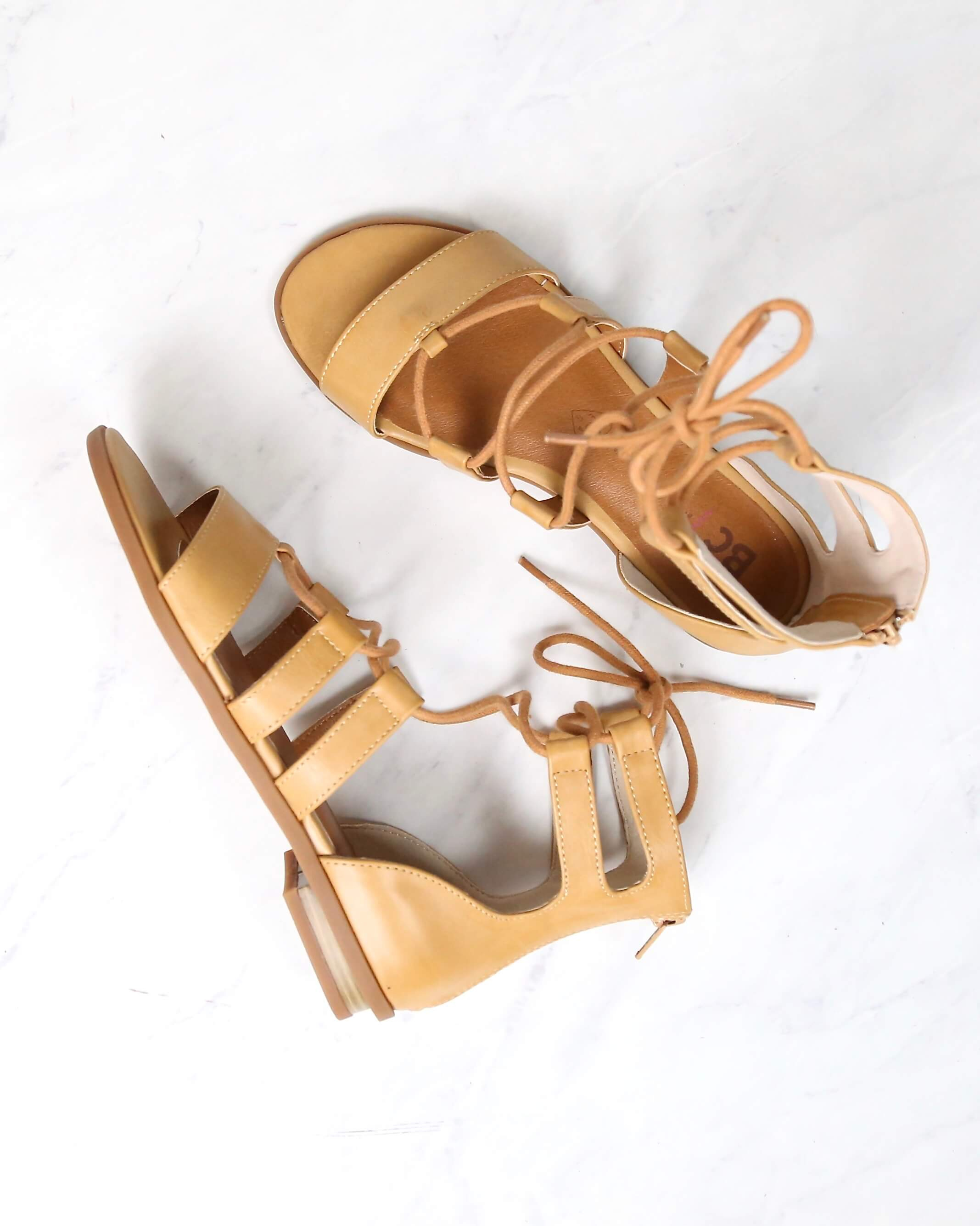Image of Bc Footwear - Pocket Size Flat Lace Up Sandals in More Colors