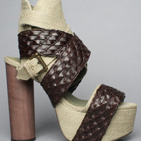 The So Much Shoe in Khaki and Coffee by Jeffrey Campbell Shoes   Karmaloop.com - Global Concrete Culture