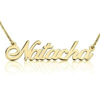 24K Gold Plated Classic Name Necklace