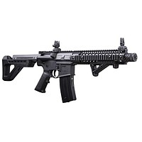DPMS Full Auto SBR CO2-Powered BB Air Rifle with Dual Action Capability Black