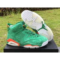 "Air Jordan 6 ""Gatorade"" green Basketball Shoes 36-47"