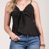 Brooklyn Tie Blouse - Black