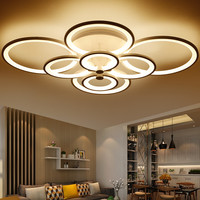 Dimming+Remote Control Living Study Room Bedroom Modern Led Chandelier White Color Surface Mounted Led Chandelier Fixtures