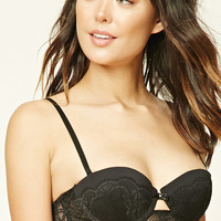 Lace-Trim Push-Up Bra