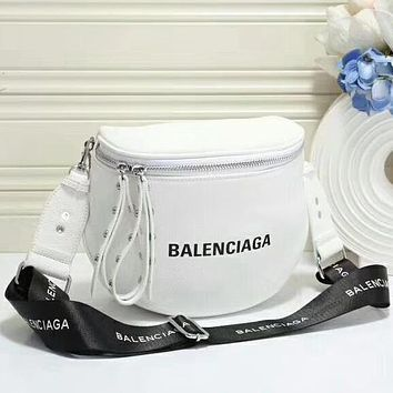 Balenciaga Women Fashion Leather Crossbody Shoulder Bag Satchel