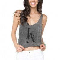 Brandy ♥ Melville |  LA Love Embroidery Tank - Just In