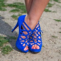 blue, high heels, shoes - image #440418 on Favim.com