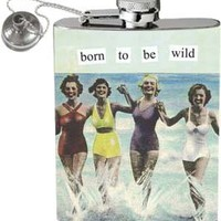 Anne Taintor 58012 2-3/4 W by 4-1/4-Inch H Flask, Born to be  Wild