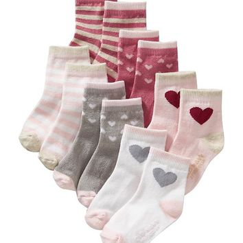 Old Navy Patterned Sock 6 Pack For Baby