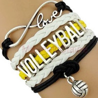 Volleyball Bracelet - Yellow/White