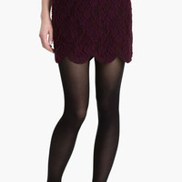 Lily White Scalloped Lace Skirt (Juniors)   Nordstrom