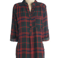 ModCloth Long 3 Button Down Where Itb
