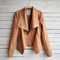 New Arrival Winter PU Tops Jacket [9509484868]