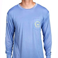 FieldTec Pocket Tee - Long Sleeve in Breaker Blue by Southern Marsh