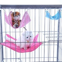 Lovely Pet Hammock Hanging Bed House Pupply Mat Cage Small Animal Rat Cat Dog Soft Home Garden